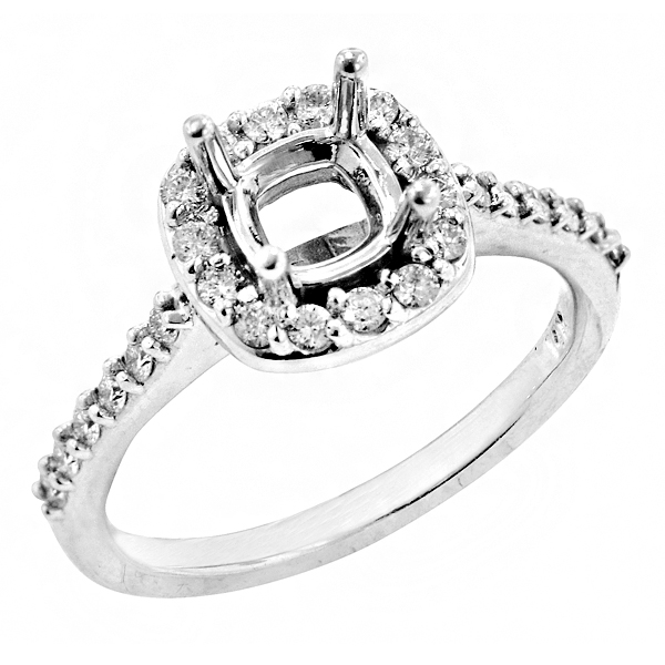 View 14K White  Gold<BR>  Diamond Ring