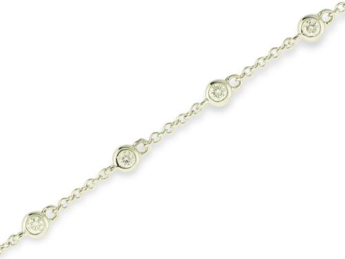 View 14K White  or  Yellow  Gold<BR>  Diamond Bracelet