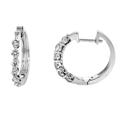 View 14K White  or  Yellow  Gold<BR>  Diamond Earrings